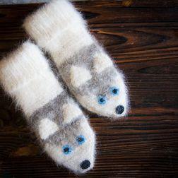 Носки из собачьей шерсти - Сибирский Хаски