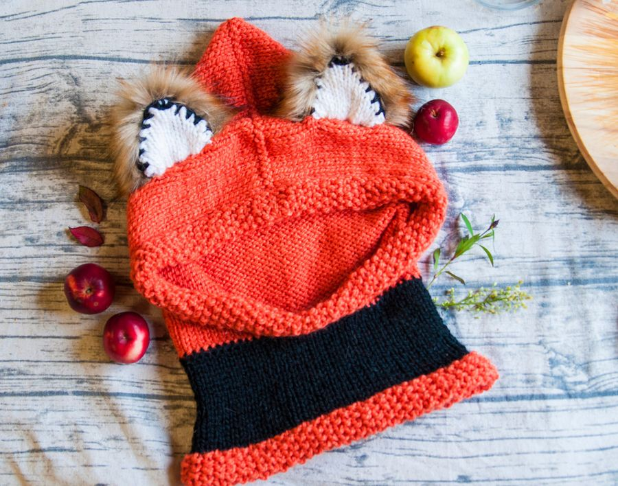 Лисья шапка с ушками. Зима близко