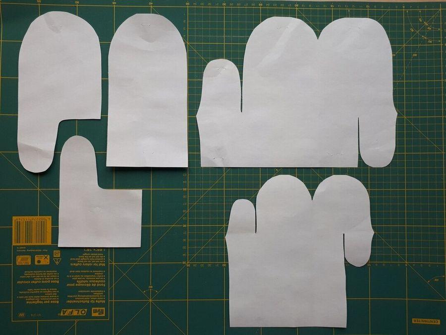 Как сшить зимние теплые рукавички из одной детали. Быстро и просто