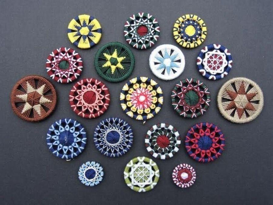 Dorsets button - необычная техника и интересная история создания. Пробуем повторить