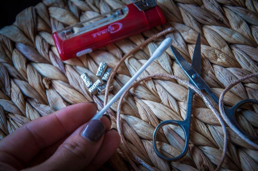 Плетение на ватной палочке