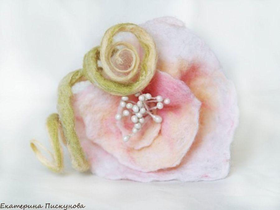 Шерстяные цветы