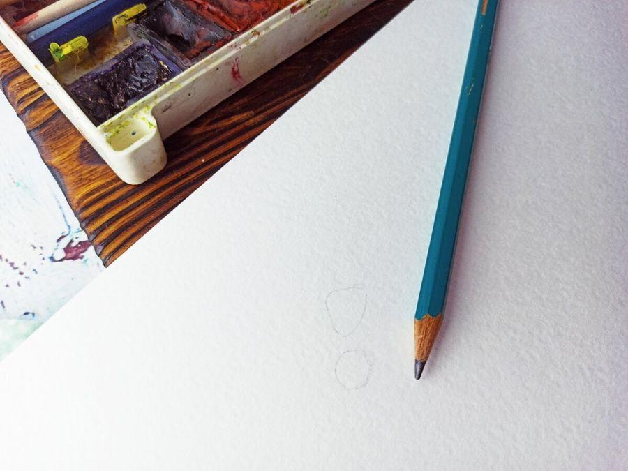 Как нарисовать объемные капельки воды