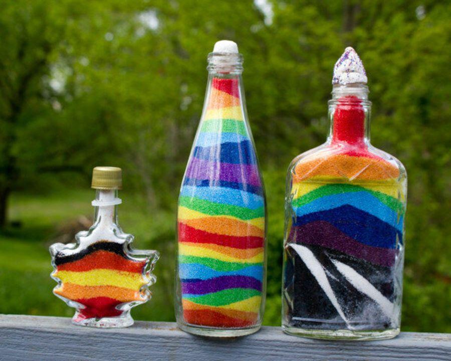 Самый бюджетный способ сделать цветной песок для милых бутылочек