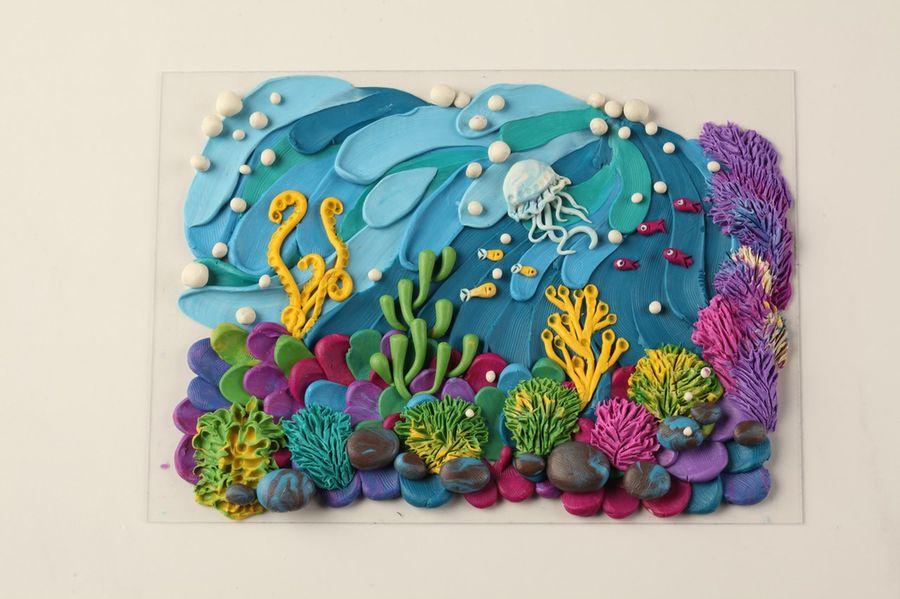 Необыкновенно красивый способ рисовать пластилином море