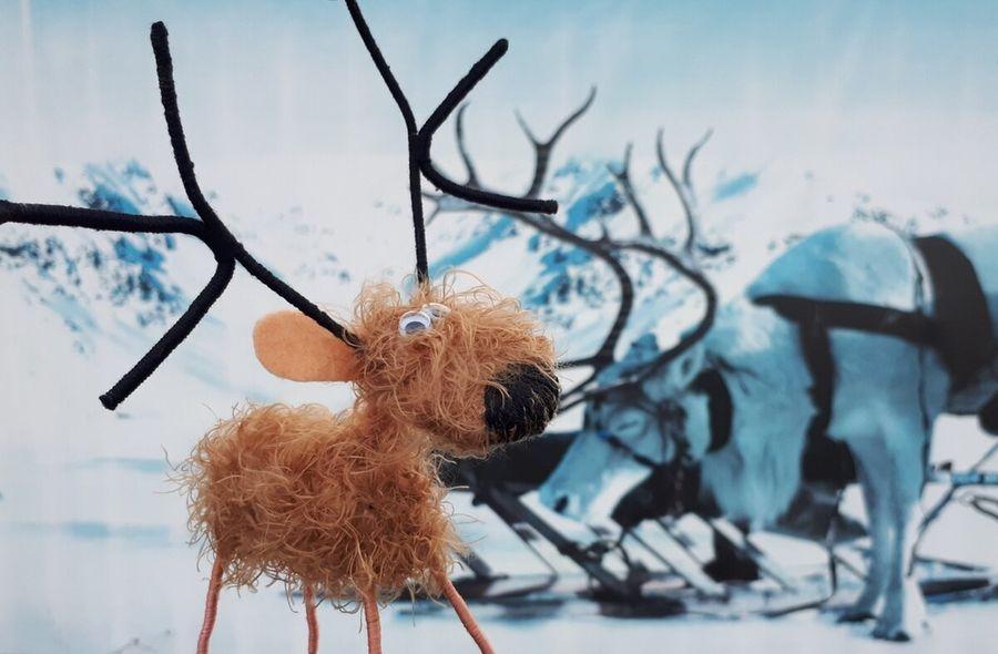 Делаем смешного оленя за 30 минут очень простым способом, без шитья и вязания